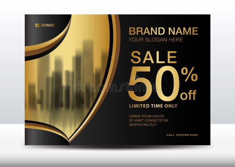 Знамя продажи, афиша, рогулька для косметик, иллюстрация брошюры вектора шаблона дизайна знамени иллюстрация штока