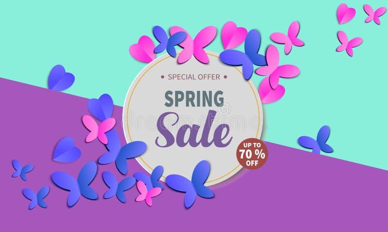 Знамя продажи весны иллюстрация штока
