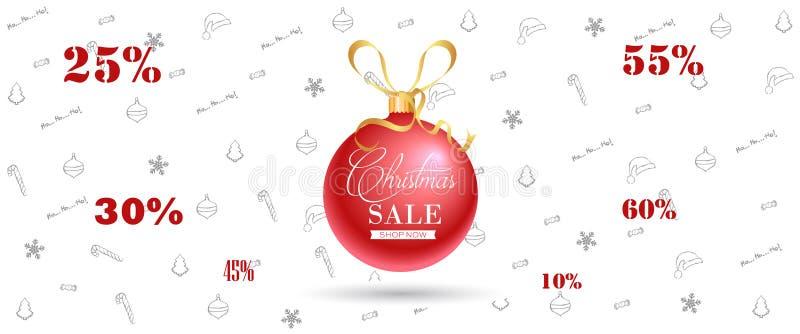 Знамя продажи рождества, предпосылка концепции праздника иллюстрация вектора
