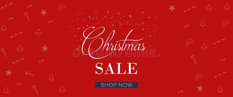 Знамя продажи рождества, предпосылка концепции праздника иллюстрация штока