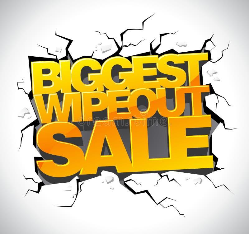 Знамя продажи Wipeout бесплатная иллюстрация