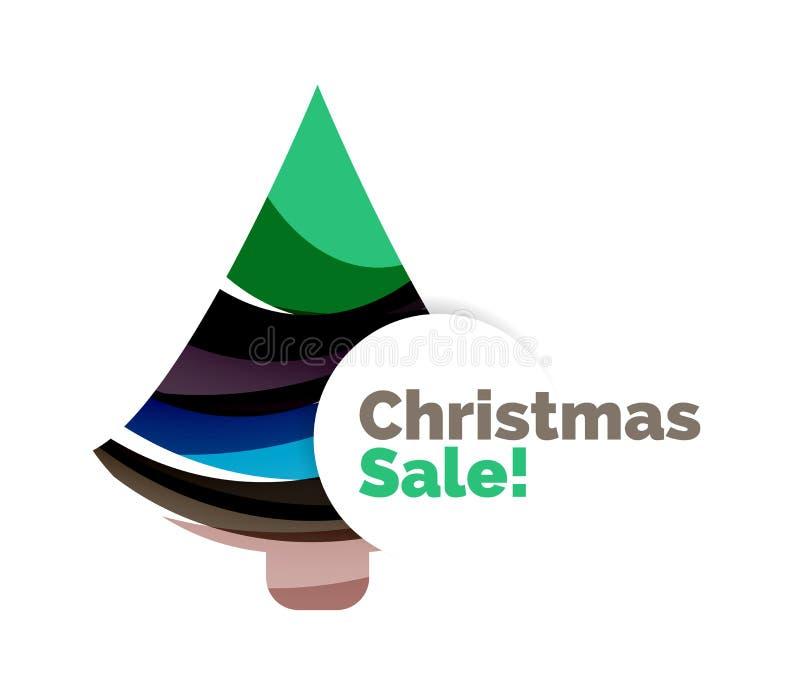 Знамя продажи рождества с безделушками бесплатная иллюстрация