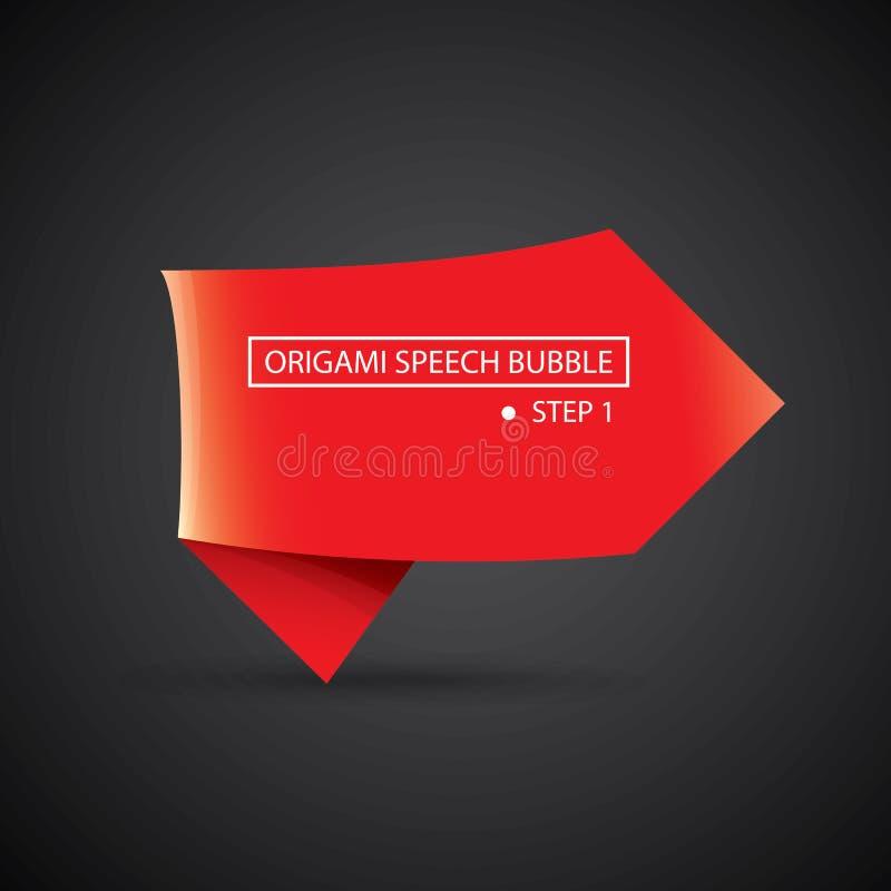 Знамя пузыря речи origami рождества вектора красное бесплатная иллюстрация