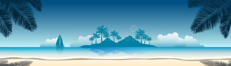Знамя пляжа иллюстрация штока