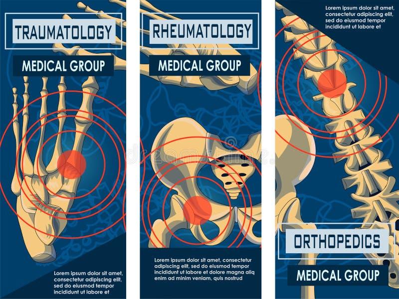Знамя ревматологии, Orthopedics и Traumatology иллюстрация вектора