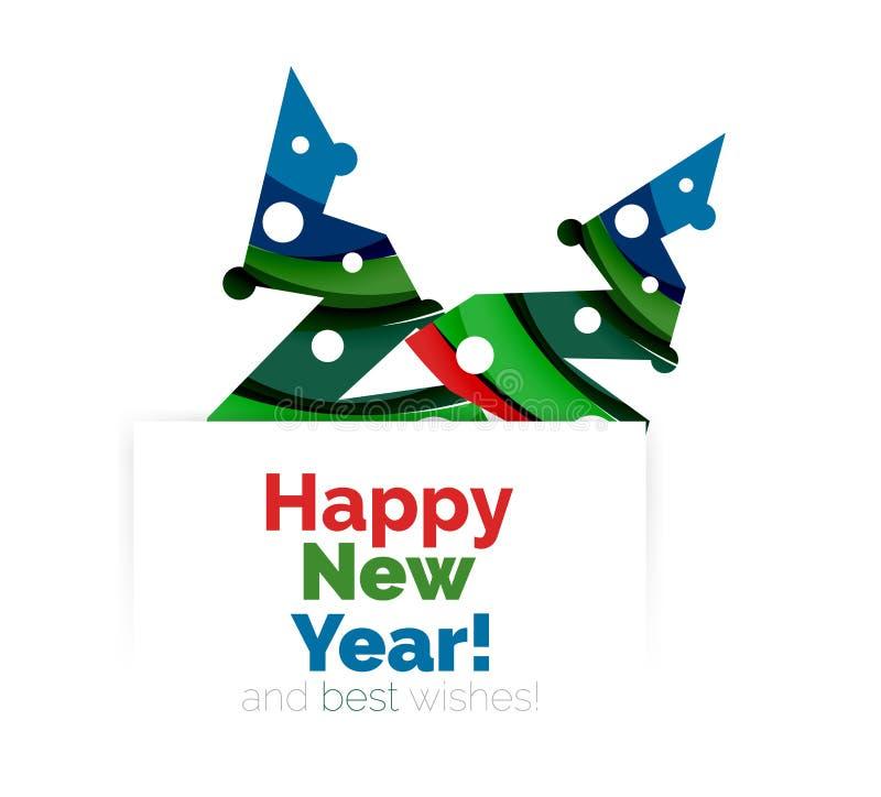 Download Знамя рождества и Нового Года геометрическое с текстом Иллюстрация вектора - иллюстрации насчитывающей празднично, геометрическо: 81804902