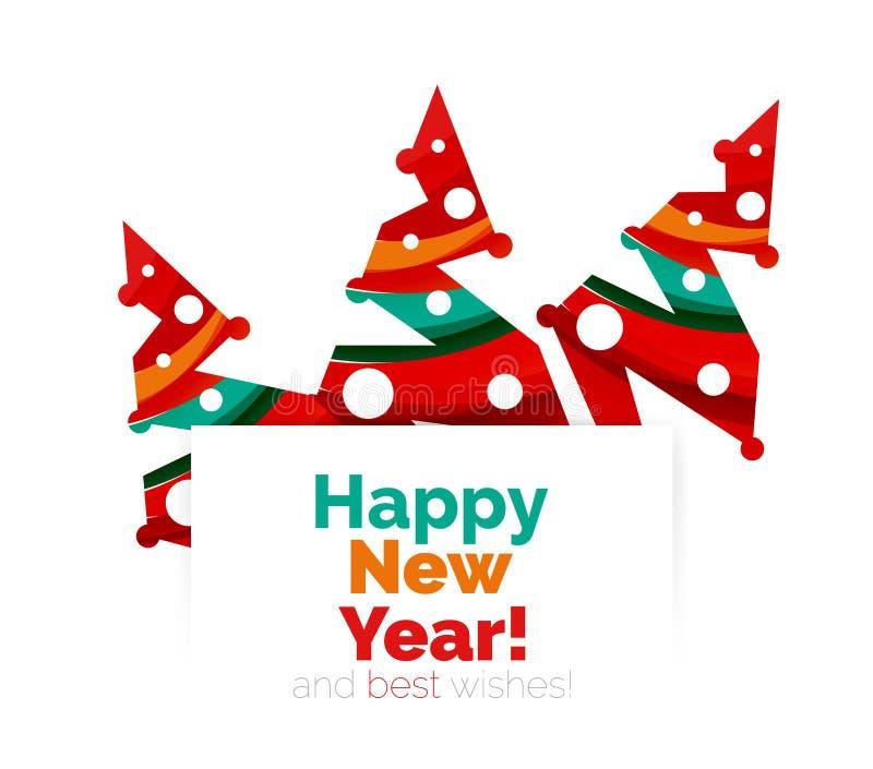 Download Знамя рождества и Нового Года геометрическое с текстом Иллюстрация вектора - иллюстрации насчитывающей элемент, приветствие: 81804909