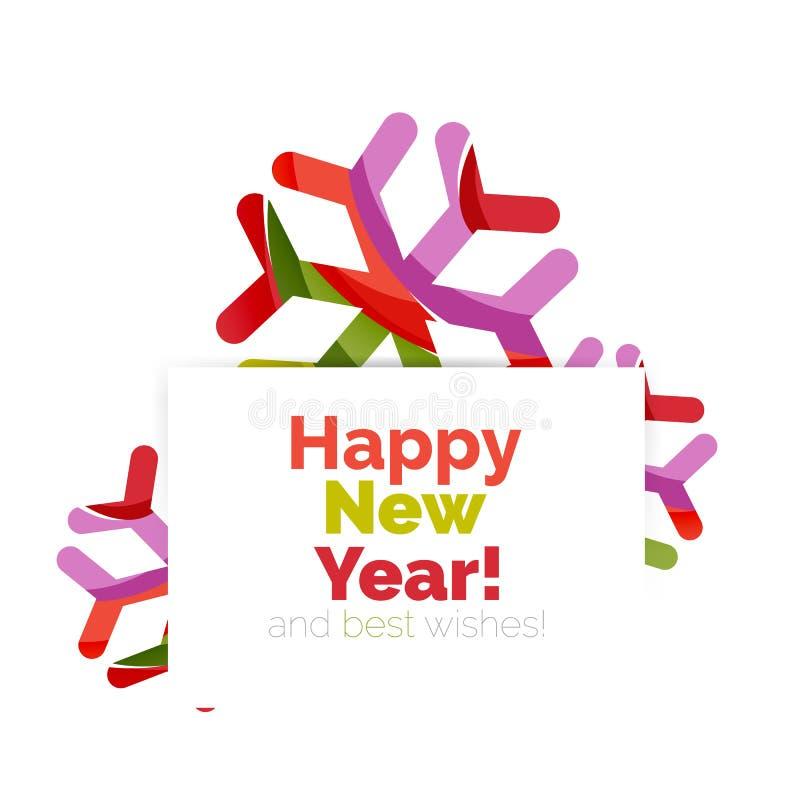 Download Знамя рождества и Нового Года геометрическое с текстом Иллюстрация вектора - иллюстрации насчитывающей backhoe, празднично: 81804936