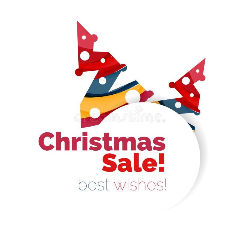 Download Знамя рождества и Нового Года геометрическое с текстом Иллюстрация вектора - иллюстрации насчитывающей яркое, приветствие: 81804944