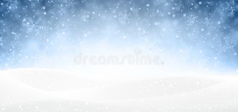 Знамя рождества снежное иллюстрация штока