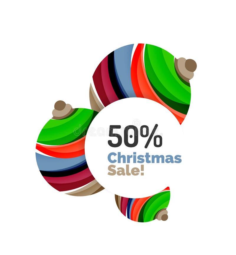 Download Знамя рождества с безделушками Иллюстрация вектора - иллюстрации насчитывающей снежинка, снежности: 81805016