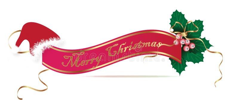 Знамя рождества иллюстрация штока