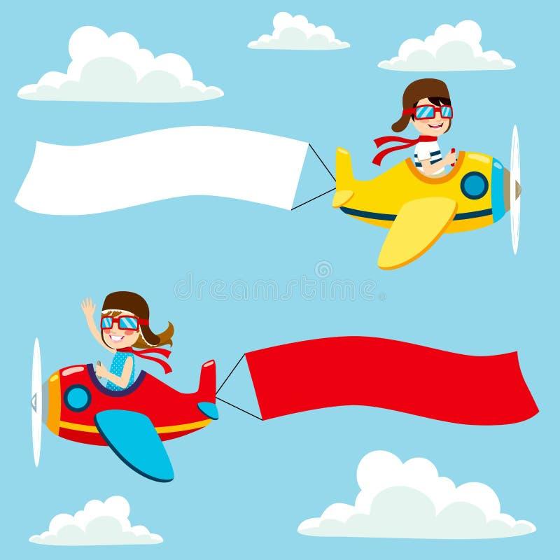 Знамя самолета пустое иллюстрация вектора