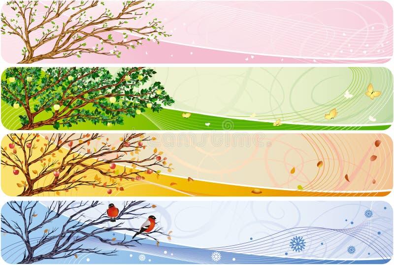 знамя сезонное иллюстрация штока