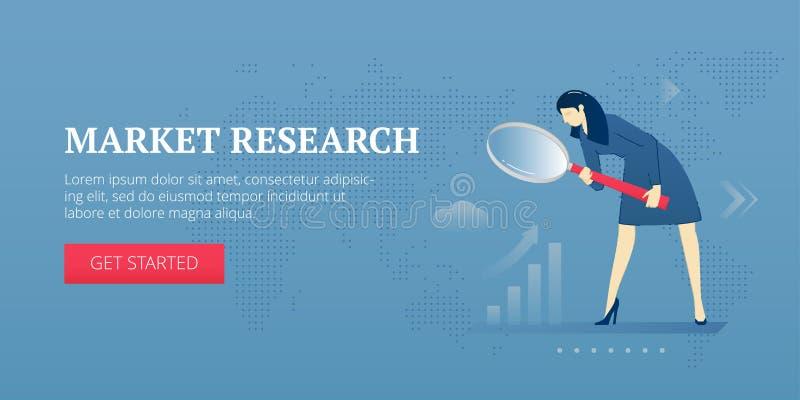 Знамя сети изучения рыночной конъюнктуры бесплатная иллюстрация