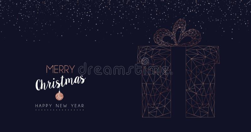 Знамя сети подарка рождества и Нового Года абстрактное бесплатная иллюстрация