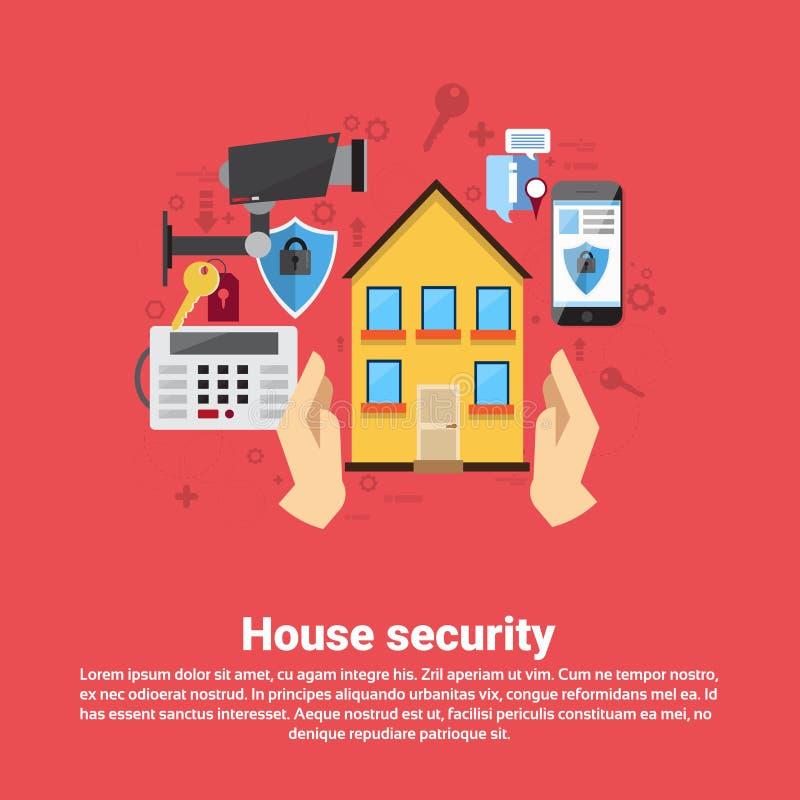 Знамя сети страхования обеспечения безопасности дома бесплатная иллюстрация