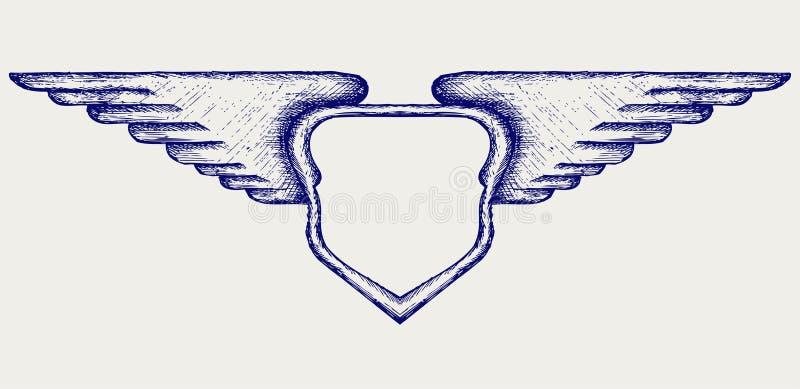 Знамя с крылами бесплатная иллюстрация