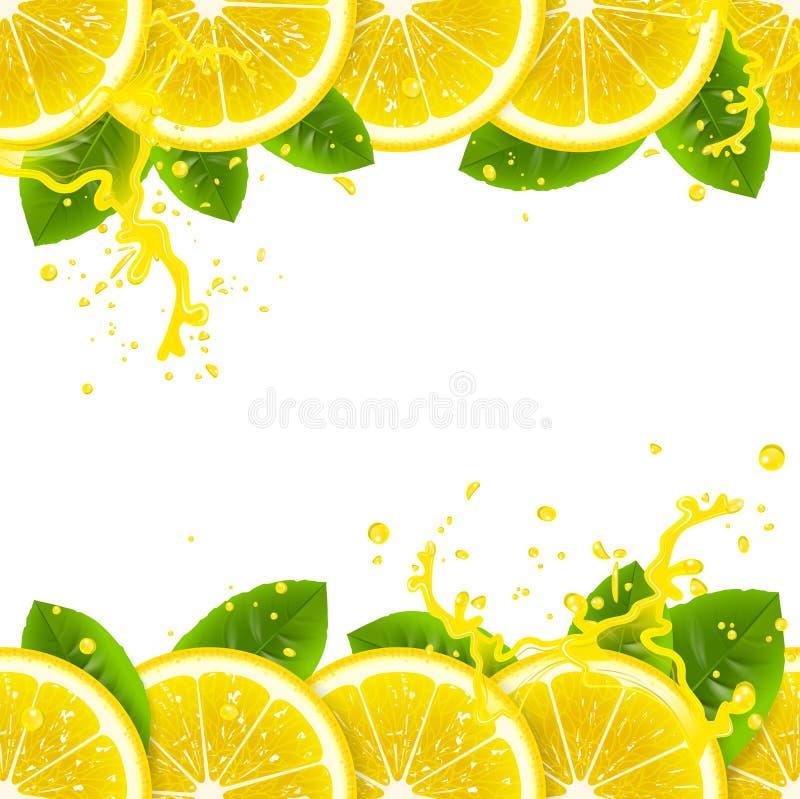Знамя с свежими лимонами бесплатная иллюстрация