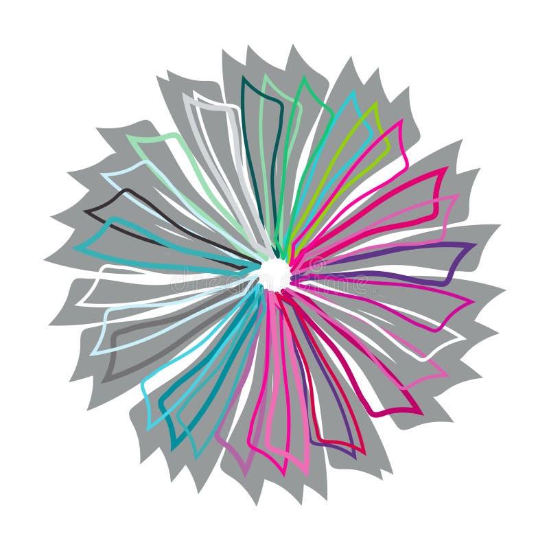 Знамя с цветком энергии, вектором иллюстрация вектора