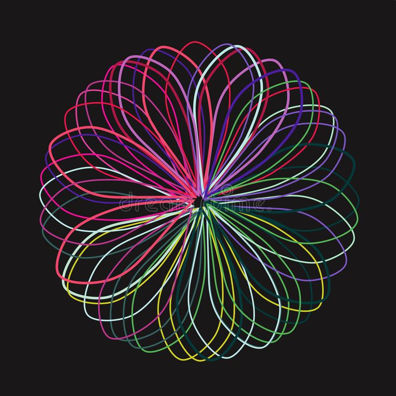 Знамя с электрическим цветом, вектором иллюстрация штока
