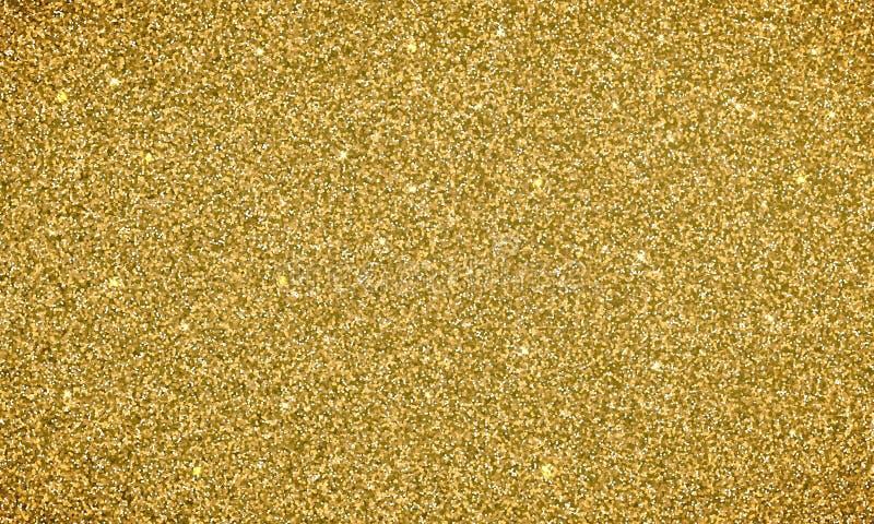 Знамя текстуры предпосылки яркого блеска золота Vector glittery праздничная предпосылка для карточки или фона рождества праздника бесплатная иллюстрация