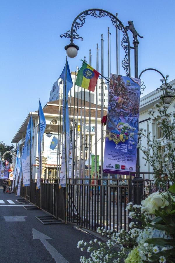 Знамя 2019 фестиваля Азии Африки стоковое изображение