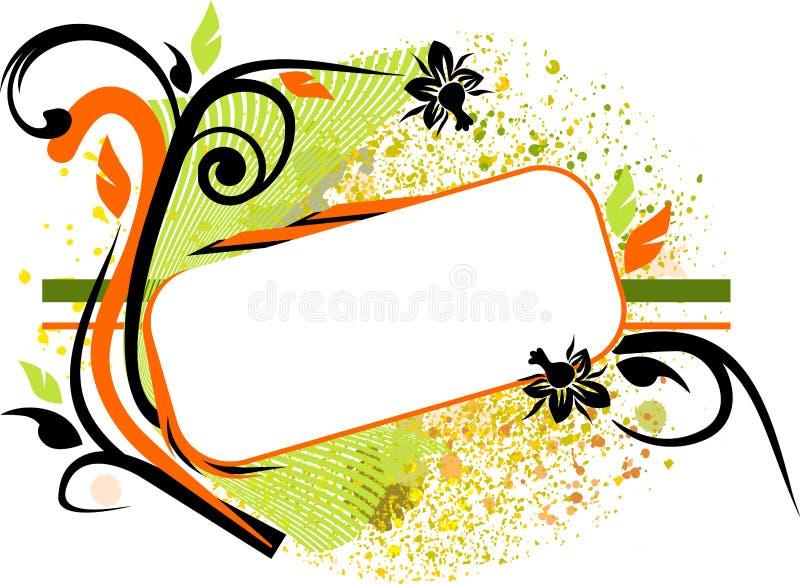 знамя флористическое бесплатная иллюстрация
