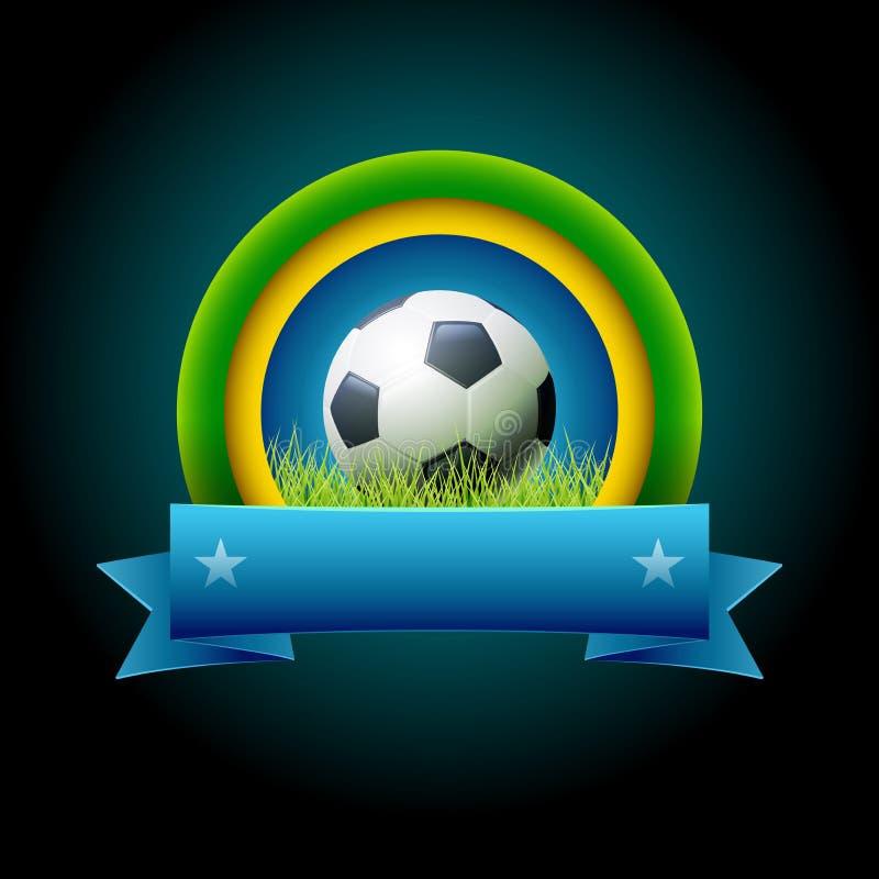 Знамя футбола бесплатная иллюстрация