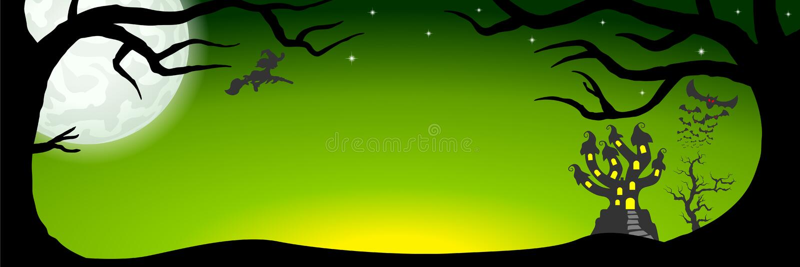 Знамя хеллоуина с преследовать замком бесплатная иллюстрация