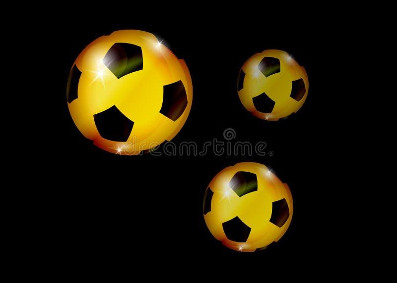 Знамя чемпионата футбола Vector иллюстрация абстрактного золотого футбольного мяча для вашего дизайна иллюстрация штока