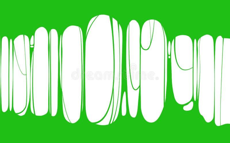 Знамя шлама липкое зеленое, плевок, сопля Рамка страшного зомби, шлама чужеземца Объект мультфильма плоским изолированный шламом иллюстрация вектора