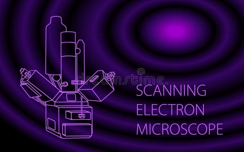 Знамя электронного кинескопа скеннирования иллюстрация вектора