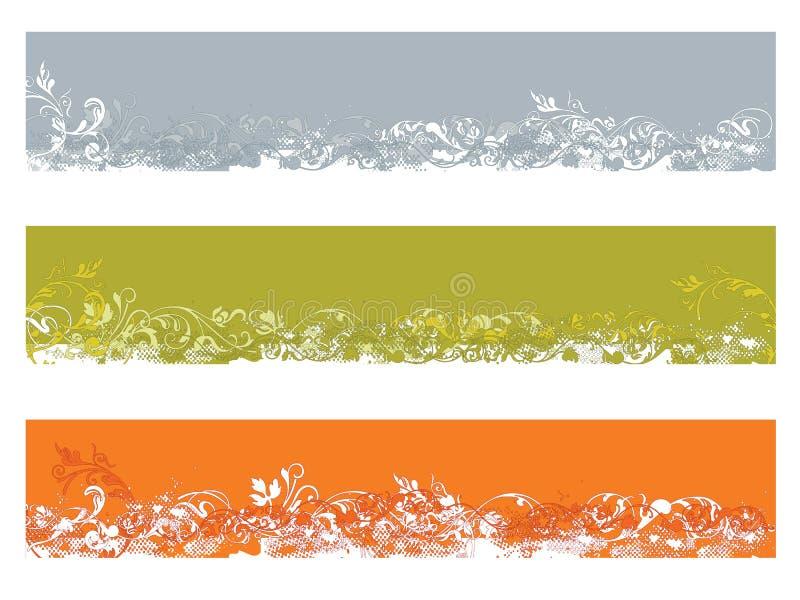 знамя 3 флористическое бесплатная иллюстрация