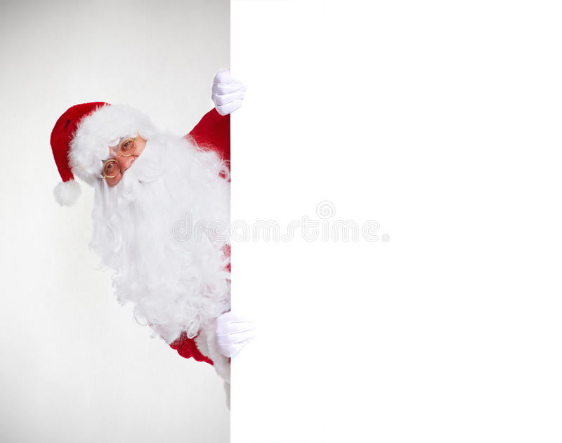 знамя claus santa стоковое изображение