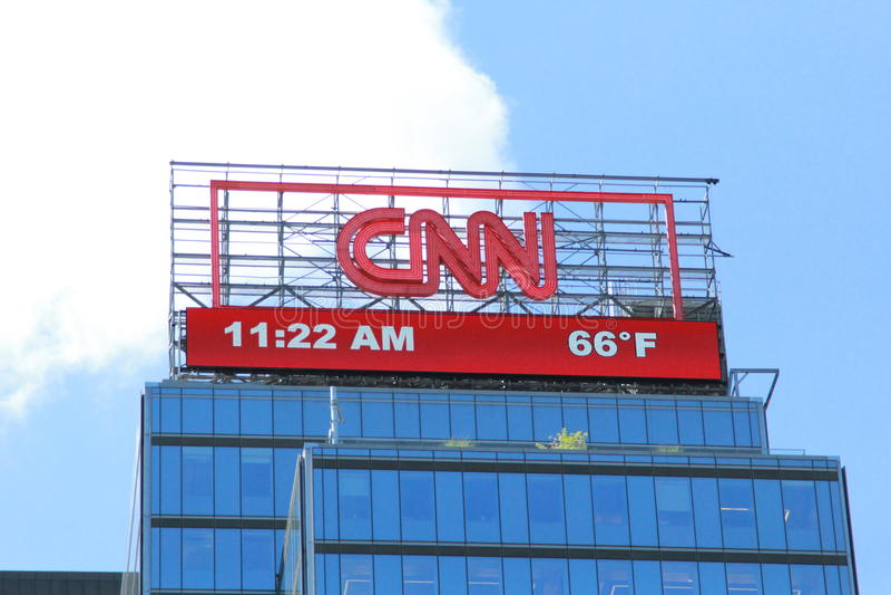 Знамя CNN стоковое фото rf