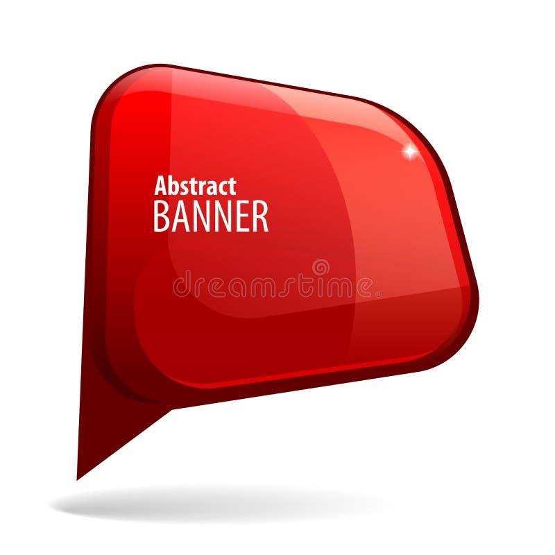 Знамя 3d сияющего лоска красное бесплатная иллюстрация