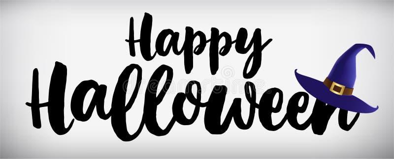 знамя halloween счастливый Шляпа ` s ведьмы бесплатная иллюстрация