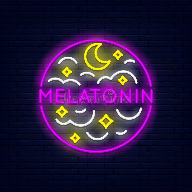 Знамя Melatonin неоновое бесплатная иллюстрация