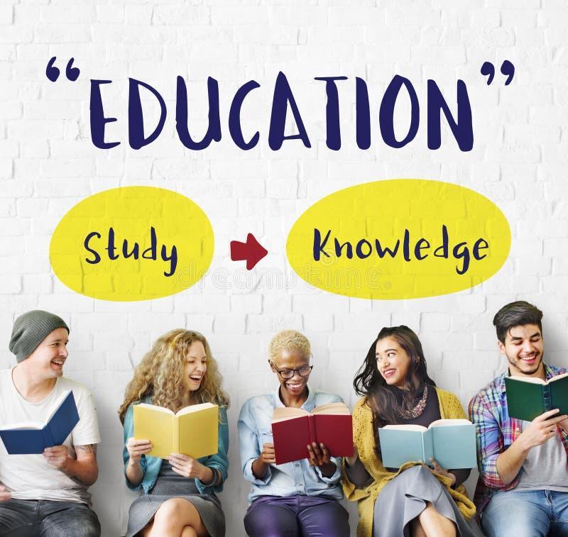 Знание образования изучая учащ концепцию разума стоковые изображения