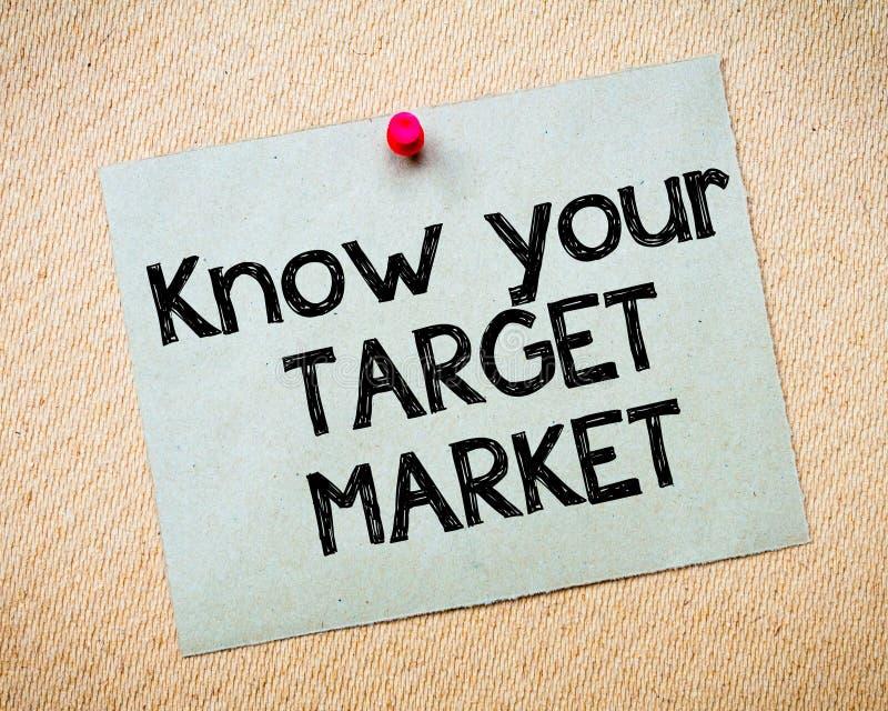 Знать ваш целевой рынок стоковое изображение