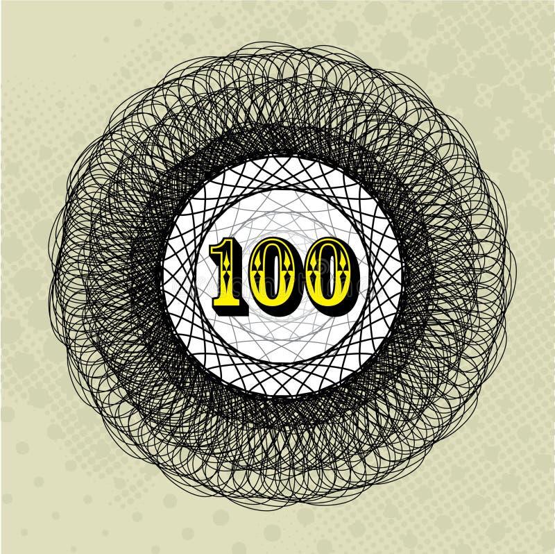 значение 100 стоковая фотография