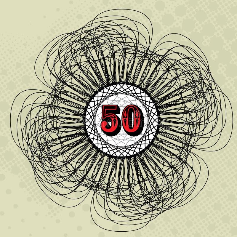 значение 50 иллюстрация вектора