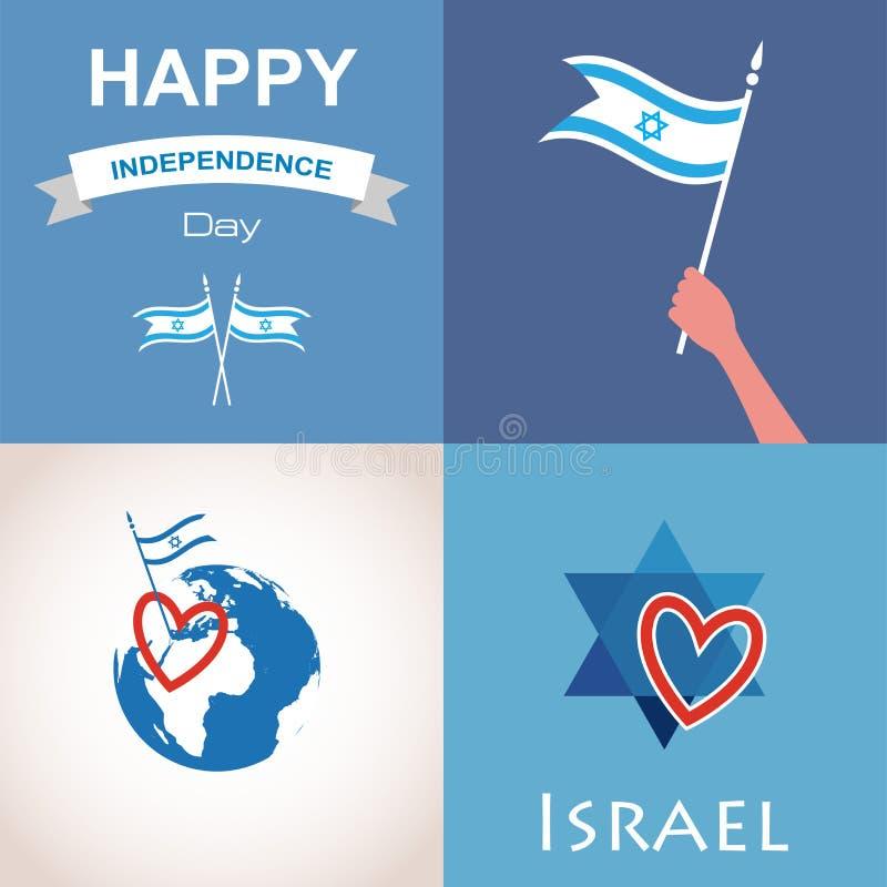 4 значка Израиля иллюстрация штока