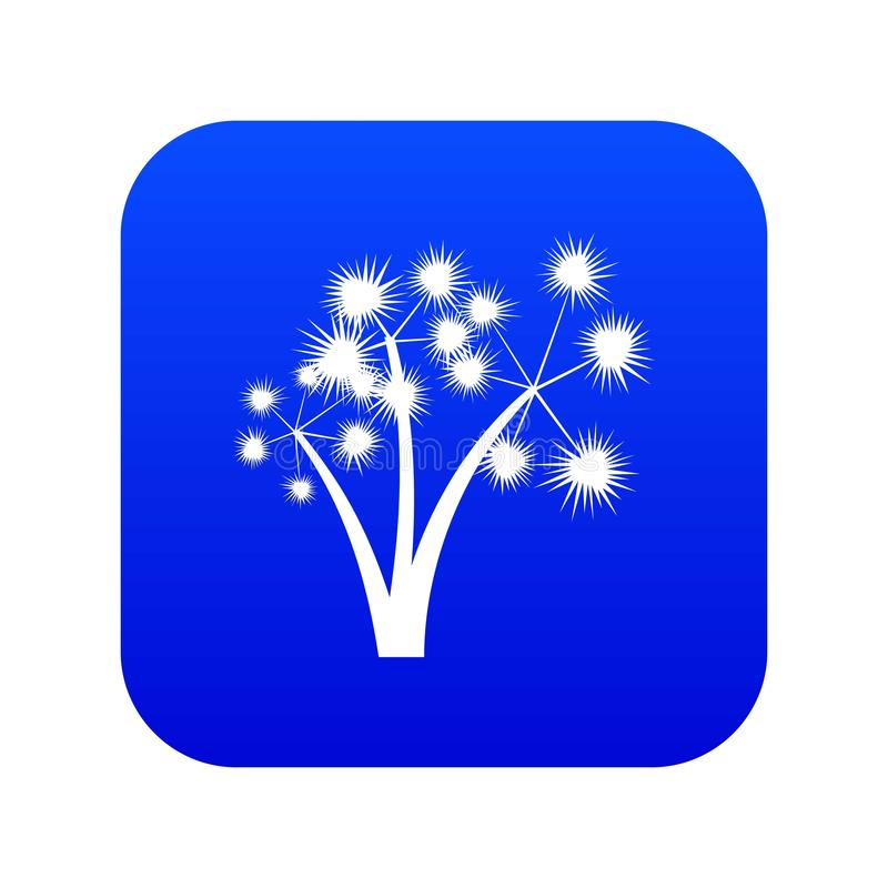 Значка 3 синь spiky пальм цифровая бесплатная иллюстрация