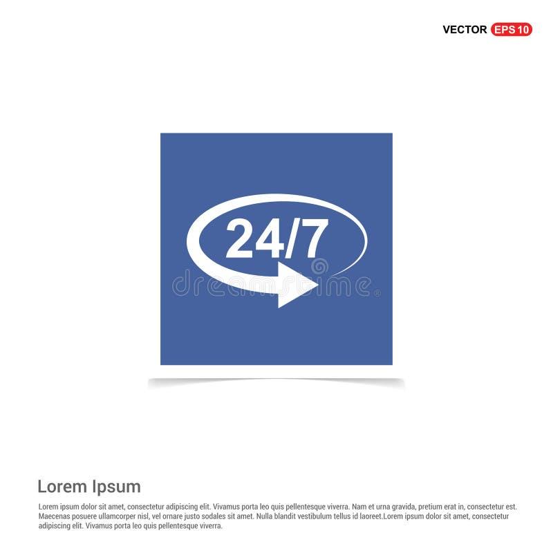 24 значка часа открытых - голубая рамка фото бесплатная иллюстрация