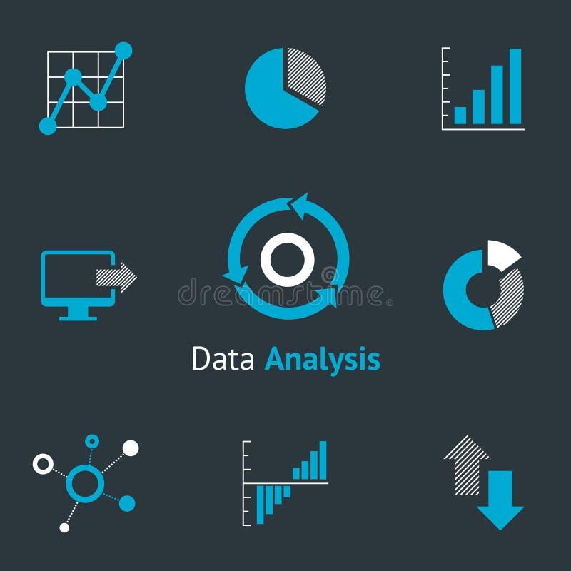 Значки данных аналитические бесплатная иллюстрация