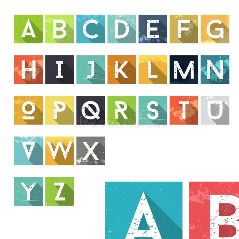 Значки алфавита пыли Grunge красочные бесплатная иллюстрация