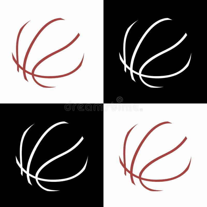 Значки баскетбола бесплатная иллюстрация