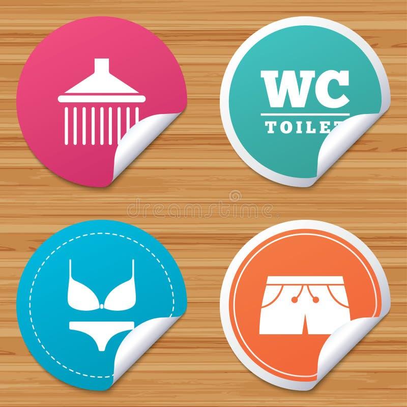 Download Значки бассейна Знаки ливня и Swimwear Иллюстрация вектора - иллюстрации насчитывающей кнопка, спа: 81804991